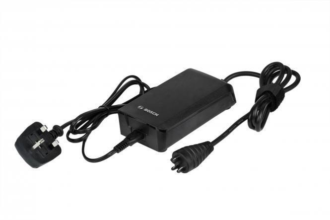 Bosch 2A compact charger with UK power cable for Bosch electric bikes ebikes