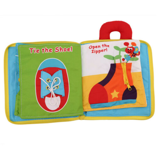 12 pages Soft Cloth Baby Boys Girls Books Rustle Sound Infant Educational Toys