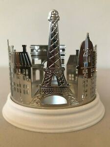 Bath-amp-Body-Works-Streets-of-Paris-3-Wick-Candle-Holder-Silver-Tone-Resin-NWT