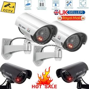 DUMMY-FAKE-DECOY-CCTV-SECURITY-CAMERA-WITH-FLASHING-LED-OUTDOOR-INDOOR-NEW-UK