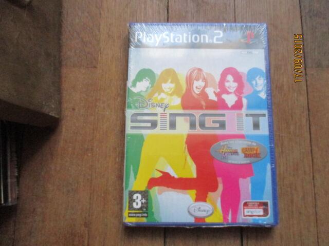 JEU VIDEO SONY PLAYSTATION 2 PS2 DISNEY SING IT  NEUF SOUS FILM