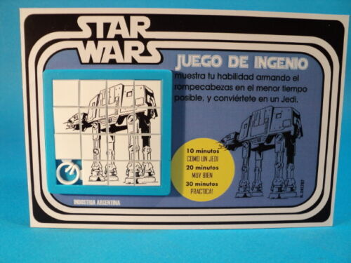 STAR WARS IMPERIAL ATAT WALKERS SLIDE PUZZLE SKILL GAME CARDED ARGENTINA