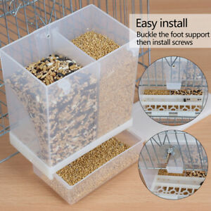 Hot-Pet-Birds-Parrot-Cage-Feeder-Large-Parrot-Seed-Water-Feeder-Box