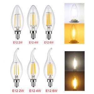 5X-2-4-6W-E12-LED-Chandelier-Light-Bulb-Filament-Candelabra-Bulb-COB-Candle-Lamp