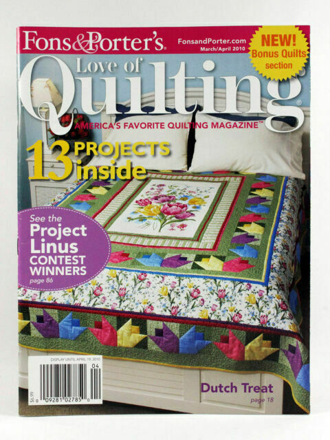 4 Back Issues 2010 2011 2015 Love of Quilting Magazine Fons /& Porters Quilting Patterns