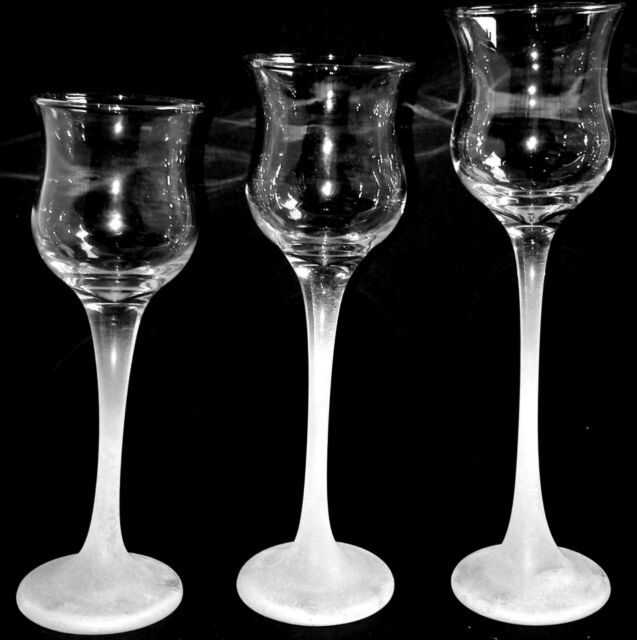 db1e981db5 Partylite ICED Crystal TRIO Frosted Votive Tealight Candle Holders Set of 3  NICE