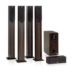 Home-Theater-Sistema-5-1-Cinema-190W-RMS-BT-USB-SD-AUX-telecomando-Legno