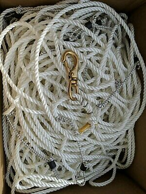 "NEW 1//4/"" Medium Lay Rope 1200 Foot for Crab Trotline Snood 3 Strand Twist Nylon"