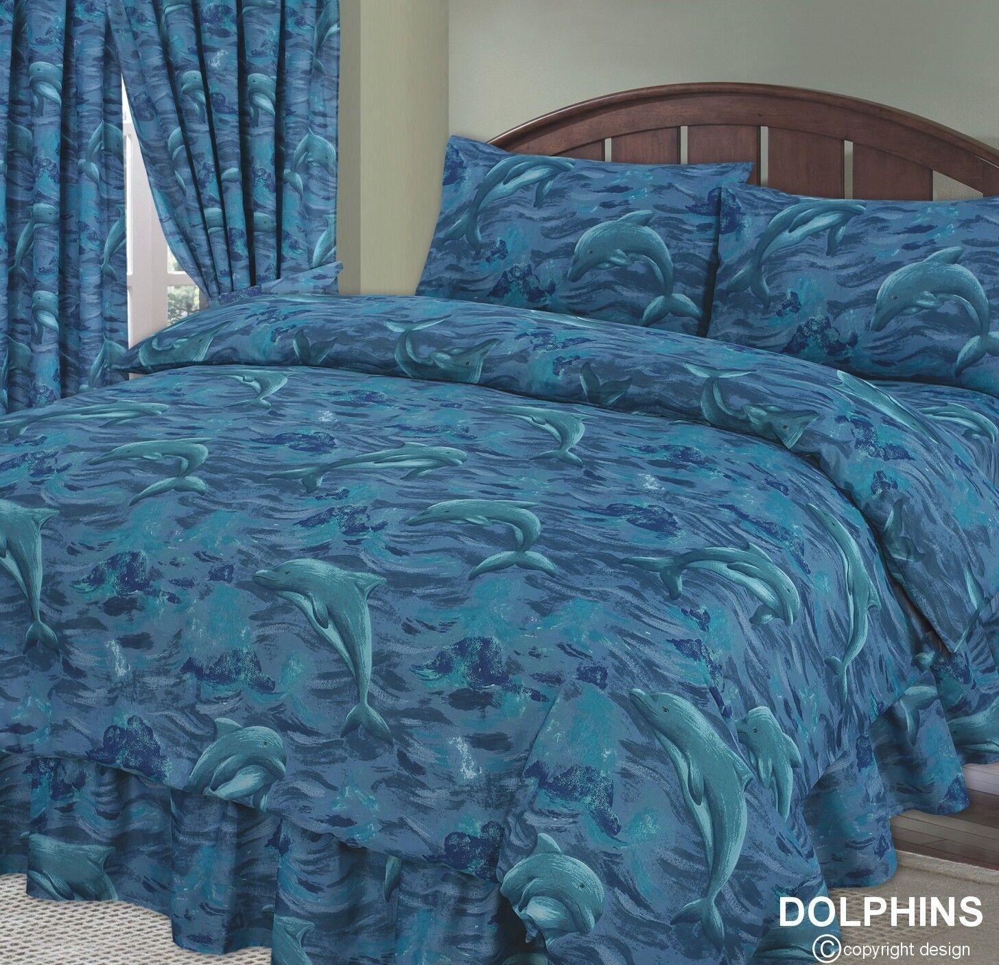 DELFINO BLU MARE OCEANO ONDA Splash piumone Set   trapunta Cover Set piumone di biancheria da letto o tende ab9b80