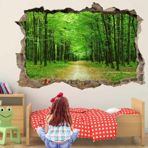 Forêt Sentier 3D Wall Art Autocollant Mural Decal Kids Room Home Office Decor GT25