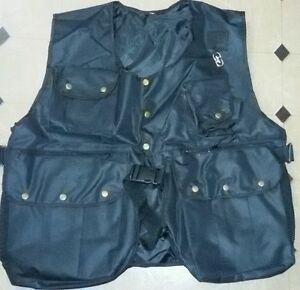 New-Falconry-and-Hunting-Waistcoat-Full-Vest-Black-All-Sizes-Fully-Adjust