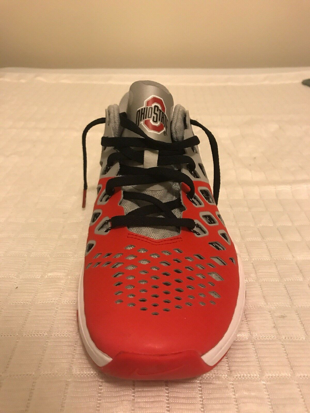 NEW NIKE OHIO STATE BUCKEYES FOOTBALL TRAIN SPEED 4 AMP 844102-603 SZ 9.5 85