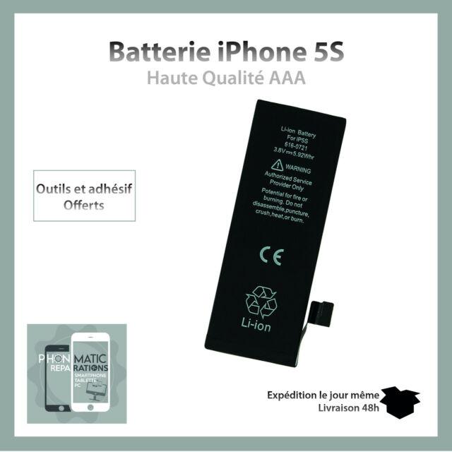 BATTERIE ORIGINALE 100% NEUVE POUR IPHONE 5S + OUTILS OFFERT
