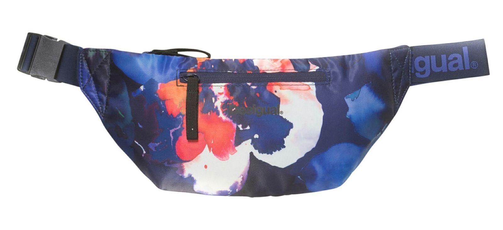 Desigual Camo Flower Waist Bag Gürteltasche Gürteltasche Gürteltasche Tasche Weiß Blau Weiß Neu 3fffd6