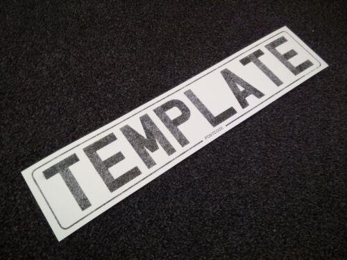 100x numéro licence plaque réfléchissante taille modèle papier 520x111 520mm x 111mm