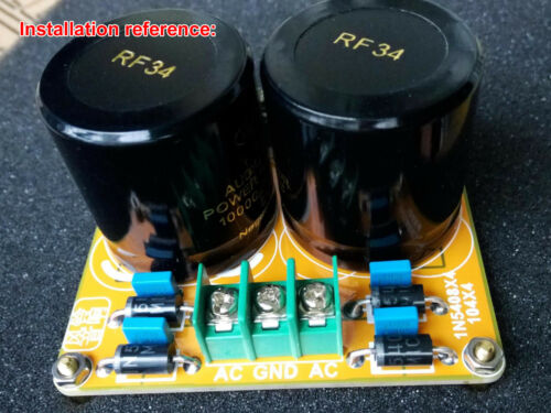 Rectifier Filter Board Dual Power For 8 Capacitors Amplifier Base PCB Bare board