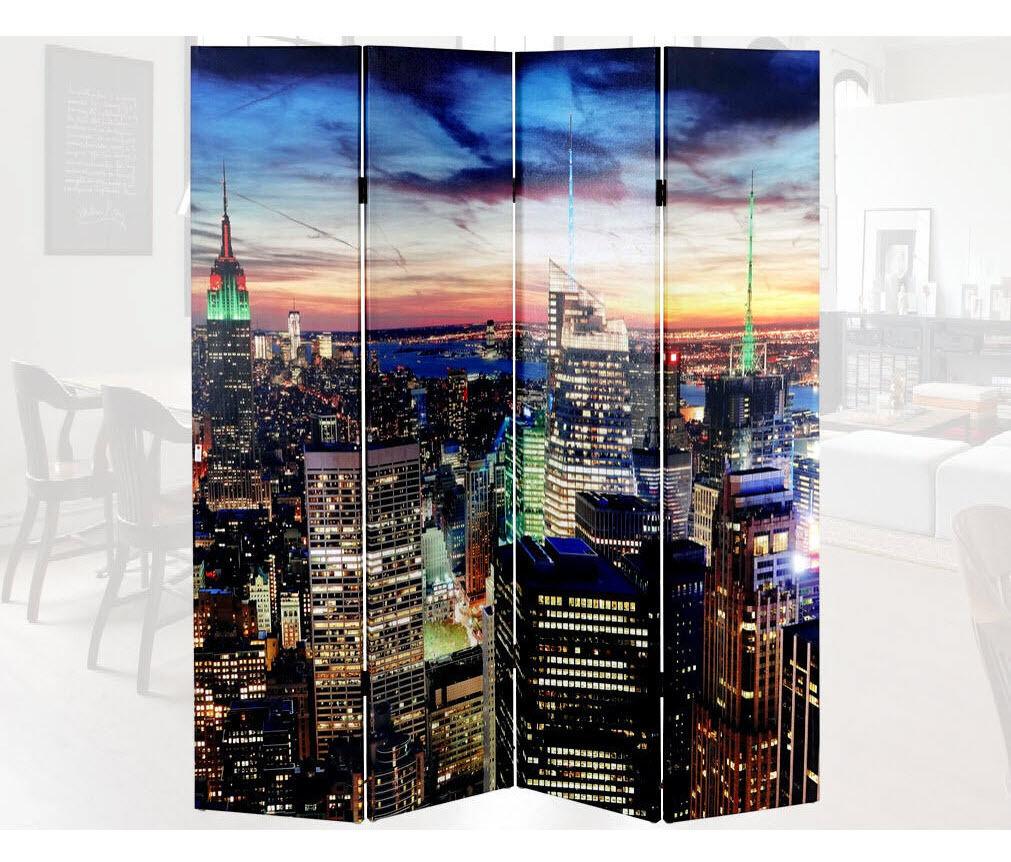 180x160 LED RAUMTEILER NEW YORK PARAVENT NETZBETRIEB TIMER PARAVANT RAUMTRENNER