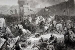 COMBAT-DE-HARENC-HARIM-SYRIE-ALEP-CROISADE-1098-GRAVURE-VERSAILLES-1838-R2638