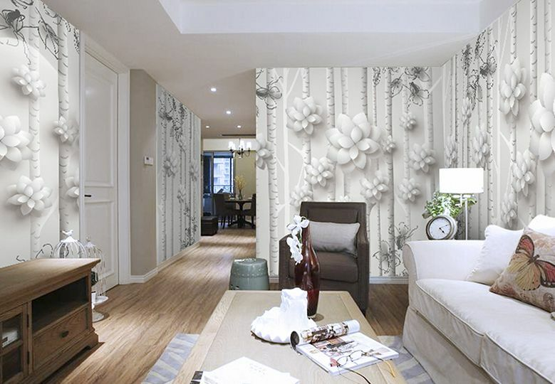 Huge 3D Space Space Space Branch Flowers Paper Wall Print Decal Wall Deco Indoor Wall Murals 4ae1cd