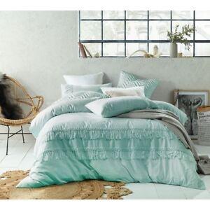 Queen-Boho-Tassels-Linen-Cotton-Quilt-Cover-Set-Duck-Egg