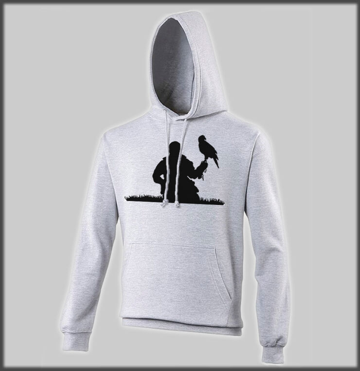 SANCTUARIES EDGE FALCONER HOODY HAWK EAGLE HUNTING BIRD OF PREY OSPREY HAWKS
