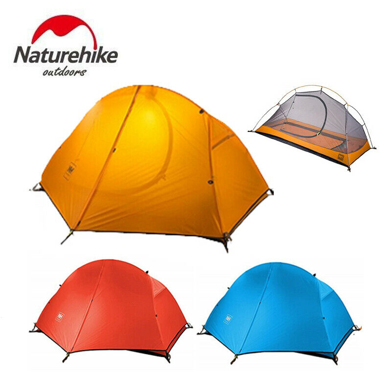 1 Person Double layer Waterproof Windproof Portable Ultralight Single Camp Tent