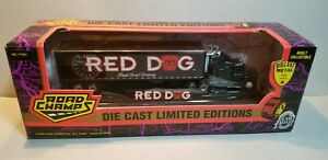 ROAD-CHAMPS-RED-DOG-TRACTOR-amp-TRAILER-1-87-SCALE-DIECAST-METAL-MODEL