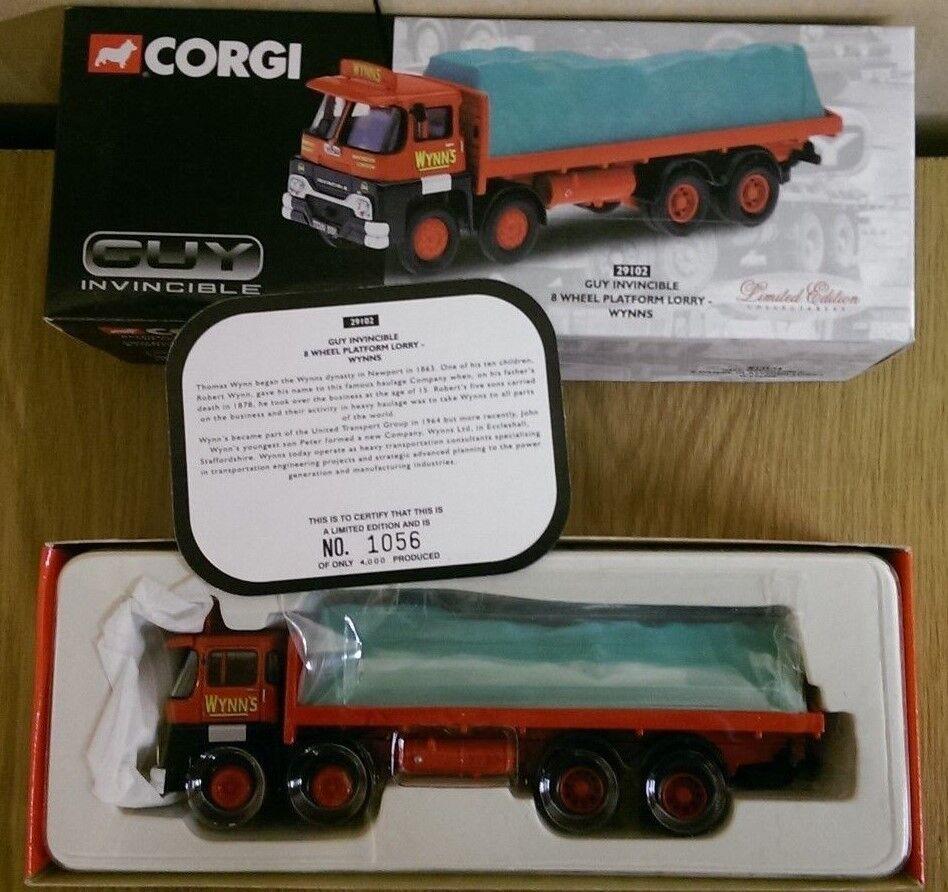 Corgi 29102 GUY Invincible 8 Wheel Platform Lorry Wynn's Ltd Ed No. 1056 of 4000