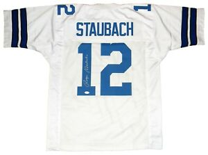 e887114417b Image is loading ROGER-STAUBACH-SIGNED-AUTOGRAPHED-DALLAS-COWBOYS-12-WHITE-