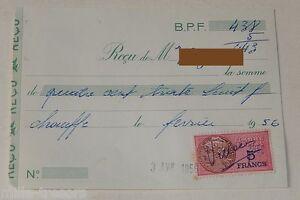 RECU-pour-CHARBON-le-2-mai-1955-TIMBRE-Fiscal-de-8-FRANCS