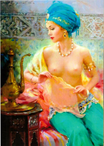 Beautiful Girl Nude Women  /' modern new unposted postcard by Razumov