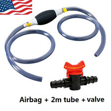Manual Hand Fuel Pump Liquid Oil Water Diesel Fluid Transfer Rubber With 2m Tube