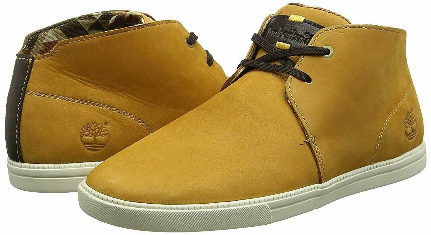 Mens Timberland Mid Fulk casual Trainers Shoes Trainers Wheat Leather Size UK