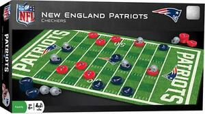 NEW ENGLAND PATRIOTS CHECKERS BOARD GAME NEW AND OFFICIALLY LICENSED