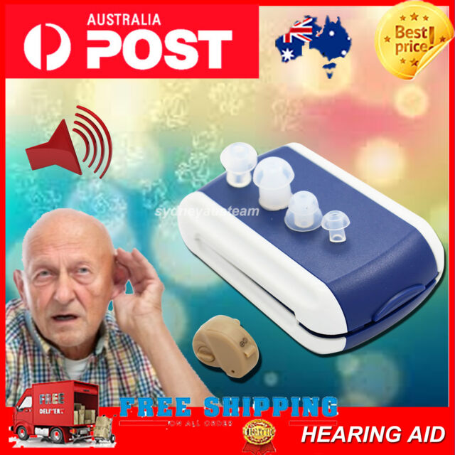 New Hearing Aid Aids Sound Amplifier Adjustable Tone Stealth Invisible typeB AU