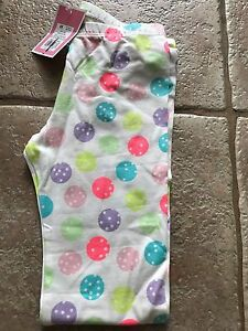 NEW-Circo-Toddler-Girl-039-s-Polka-Dots-Leggings-White-w-Colored-Dots-18M-3T-5T-6x