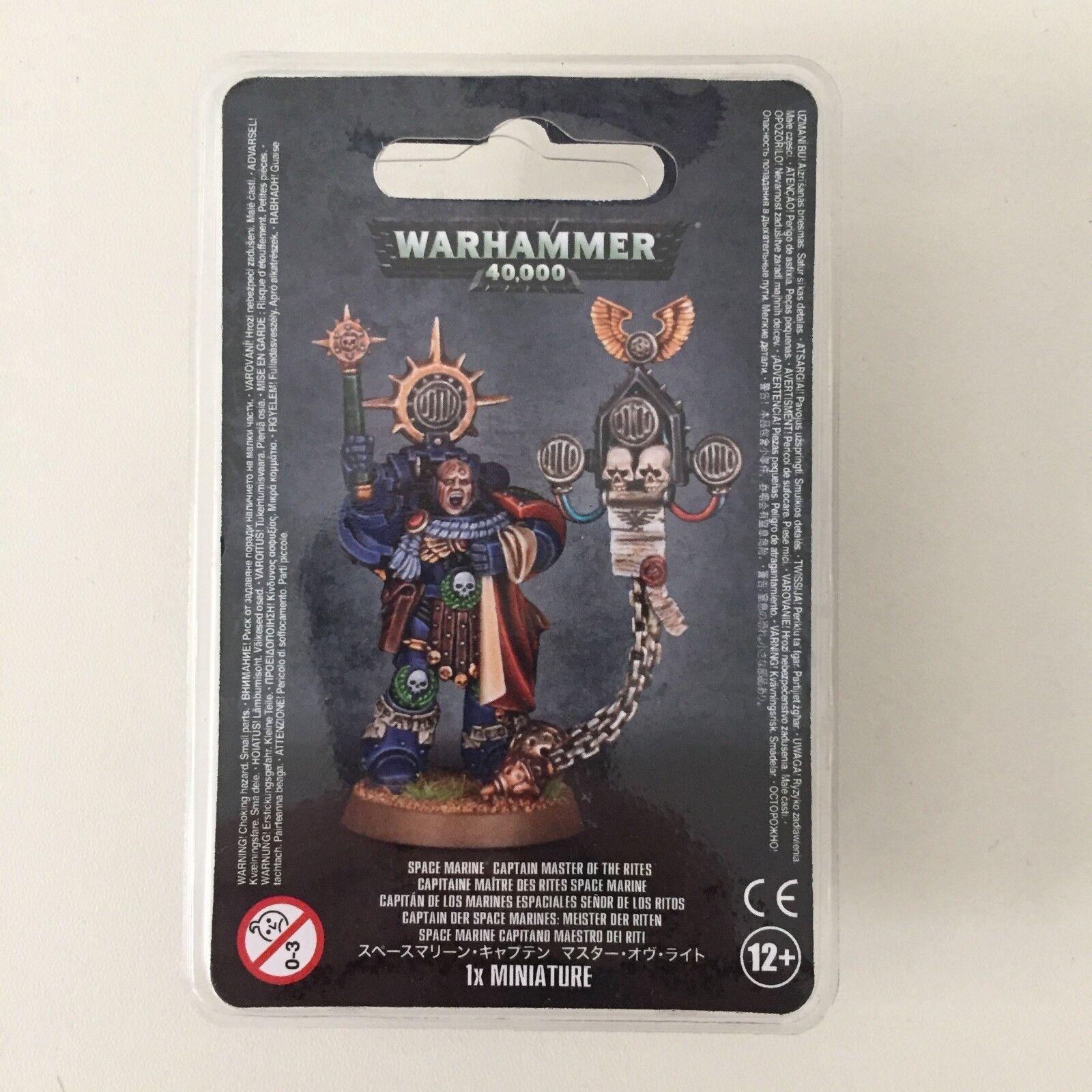 Warhammer 40K Marin de L'Espace Capitaine Master des Rites Résine Bulle Finecast