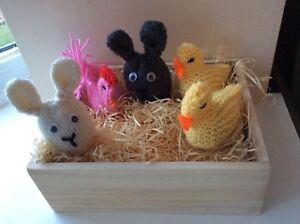 3x Conejo de Pascua Chica y tejer patrón para cubrir recaudación de fondos de crema de huevo  </span>
