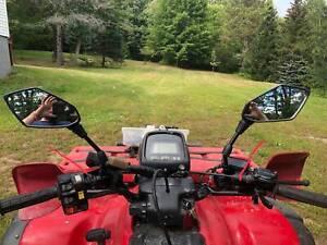 UTV-ATV-Rear-View-Side-Mirrors-10mm-For-Honda-Rubicon-Rincon-Recon-TRX-250X-FO