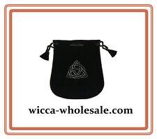 Black Velvet Bag Pouch 5 X 5 Triquetra Wicca Talisman Drawstring Tarot