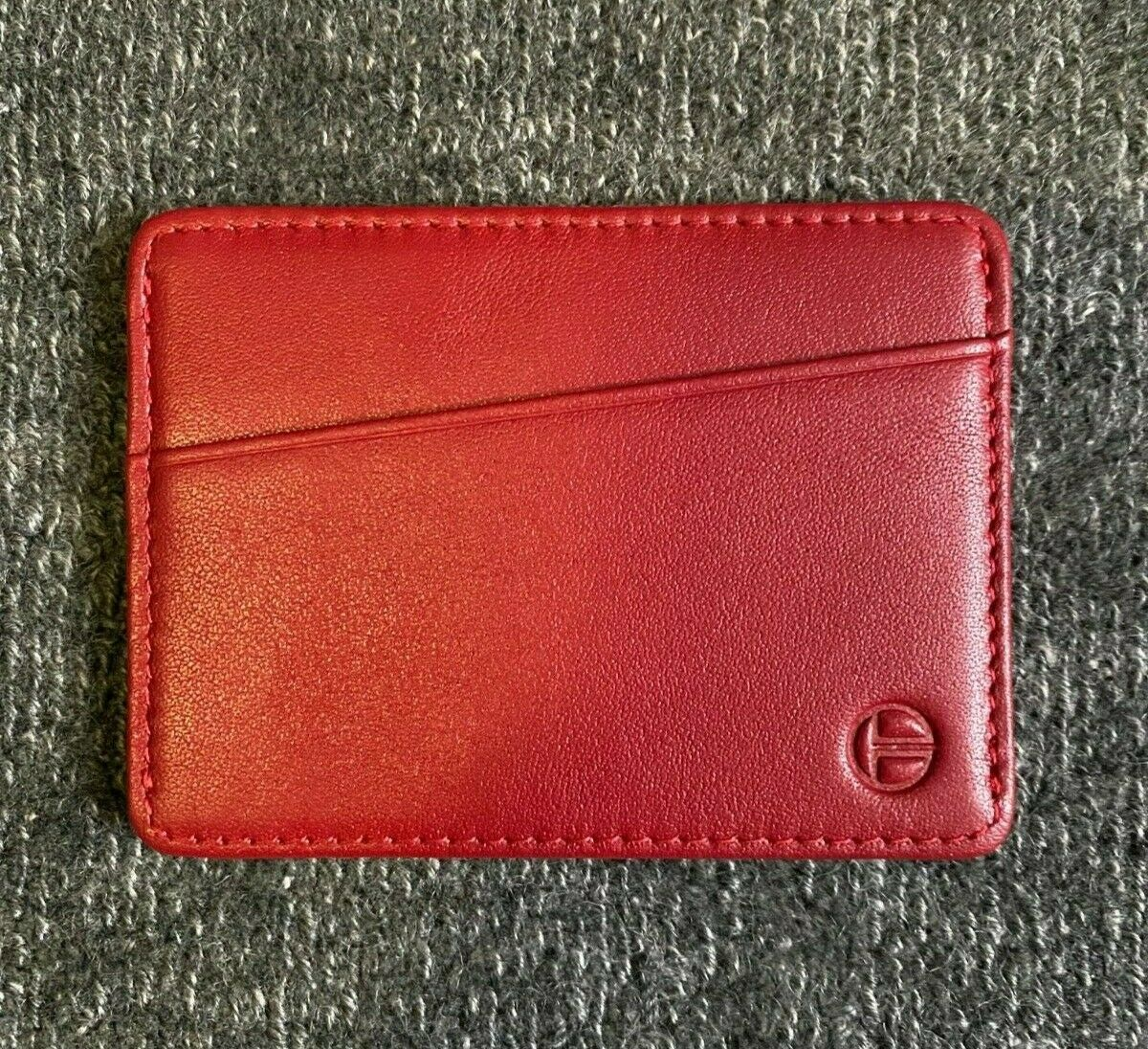 Slim Minimalist Wallet - Teng & Co TYNI Wallet Red Nappa Leather NEW with Box