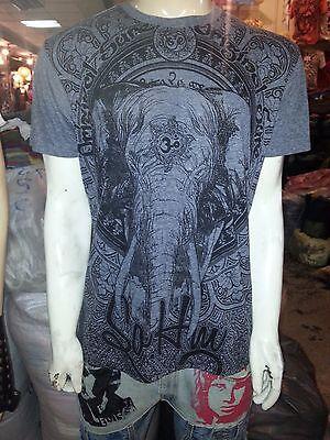 gp Men Shirt short sleeve cotton Mediation Chakra Yoga India Thailand Om m Sure