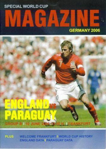 2006 WORLD CUP FINALS ENGLAND v PARAGUAY