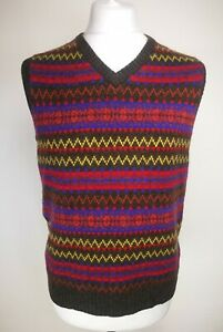 Joules-Mens-Sleeveless-Jumper-Size-L-Brown-Mix-Wool-Blend-RRP-59-95-BNWT