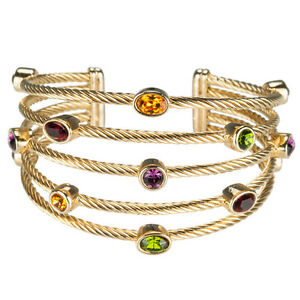 Image Is Loading Daniel Steiger Rope Bangle 18k Gold Plated Las