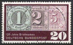Logique Bund Nº 482 125 Ans Timbres 1965, Estampillé-afficher Le Titre D'origine