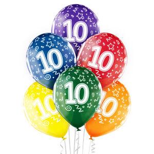 Das Bild Wird Geladen Premium Ballons 6 Er Set 10 Geburtstag 30