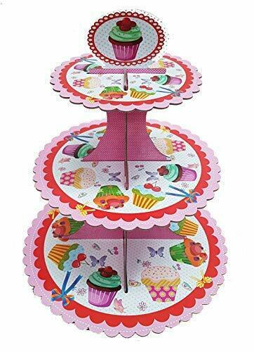 Polka Dot Sky Cupcake /& Floral Cake Stand Perfect for Birthday Parties Hen Party