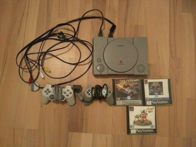 Playstation 1, PS1 Konsol, God, Fungerer som den skal. 2…