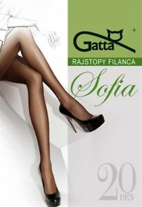 5er-Pack-Gatta-034-Sofia-20-034-Strumpfhose-schwarz-beige-Gr-S-M-L-XL-XXL